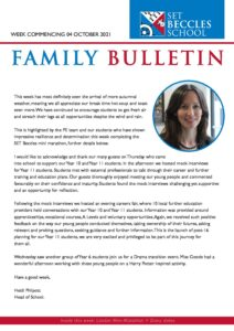 SET Beccles School Weekly Family Bulletin
